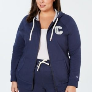 Champion Blue Logo Zip Hoodie